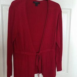 Pretty dark red cartigan sweater